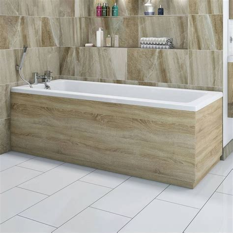 bathtub side panel drift oak wooden bath front panel 1700mm bath side panel