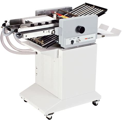 Folding Machine Paper - mbm 352s automatic paper folding machine abc office