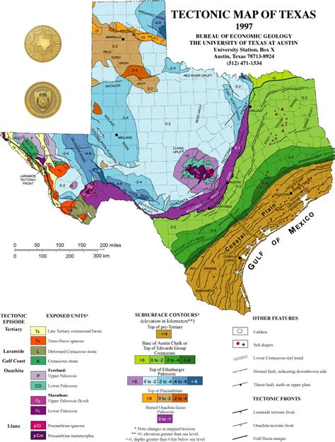 geological map of texas geology maps of the state of texas