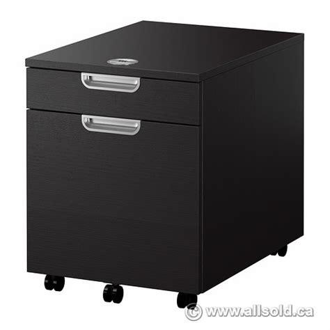 ikea galant espresso 2 drawer rolling pedestal w