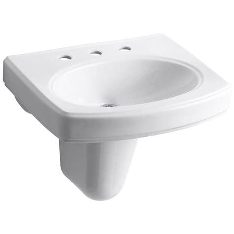 kohler wall mount sink kohler pinoir wall mount vitreous china bathroom sink in