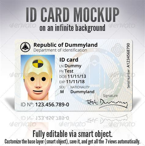 Novelty Id Card Template by Id Card Template 19 In Psd Pdf Word