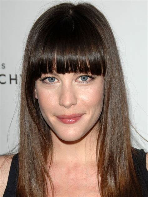 liv tyler hairstyles for narrow face shapes 17 best ideas about oval face bangs on pinterest bangs