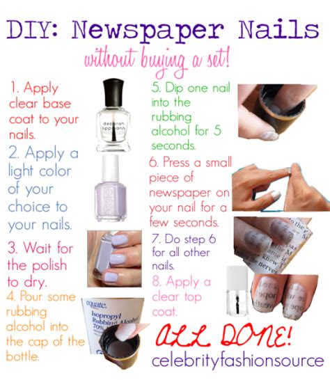 DIY Newspaper Nails!   The Easy DIYs