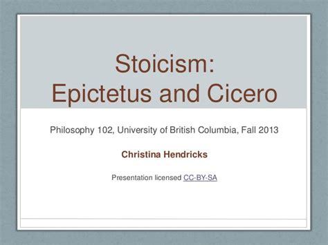 stoics epictetus and cicero all notes