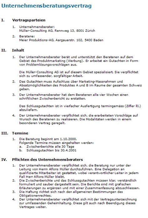 Muster Dienstleistungsvertrag Schweiz Beratungsvertrag Rechtssichere Vorlage F 252 R Ihren Auftrag