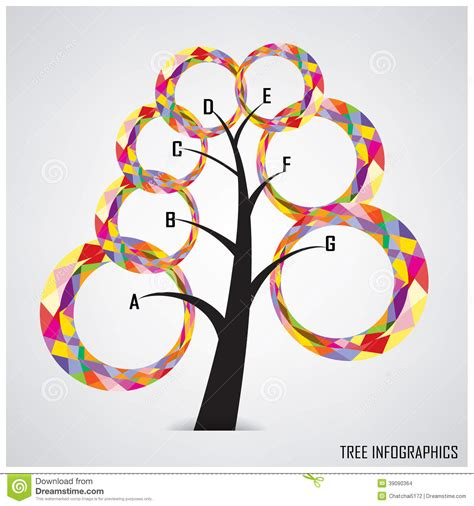 Tree Infographics And Business Symbol Stock Vector Image 39090364 Family Tree Template Info Graphics