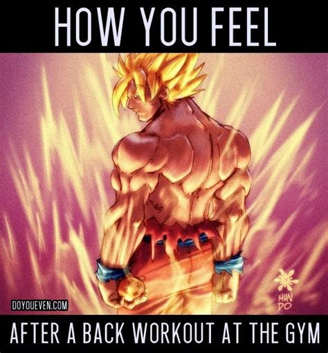 Dbz Gym Memes - how you feel after a good back workout funny pinterest
