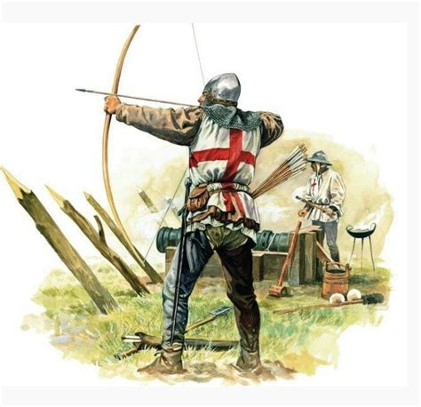 libro longbowman vs crossbowman hundred archer illustration google search knights castles archers medieval english