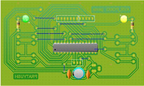 pcb layout game pratyush s blog 167 5x7 avr pong game