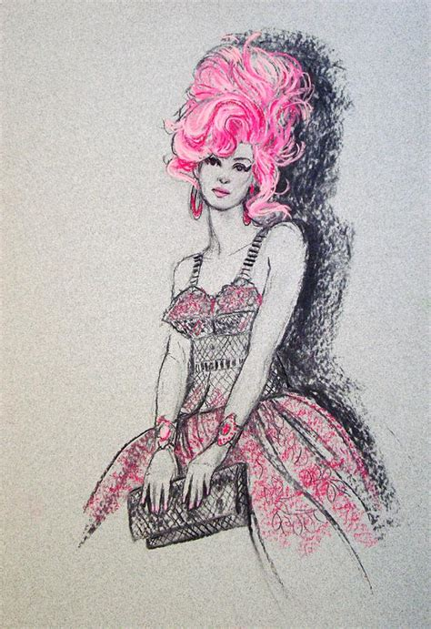 Pink Sketches by Pretty In Pink Hair Drawing By Sue Halstenberg