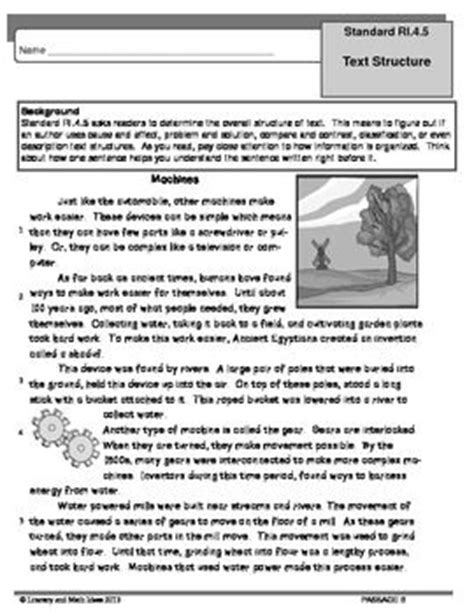 Text Structure Worksheets 4th Grade by Common Grade 4 Text Structure Ri 4 5 Practice The