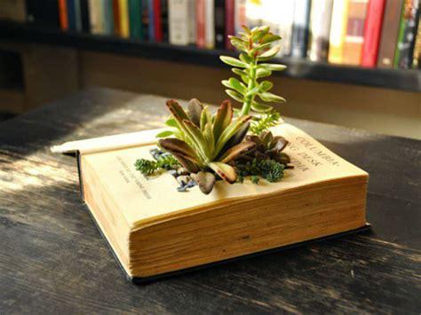 book planters  succulents world