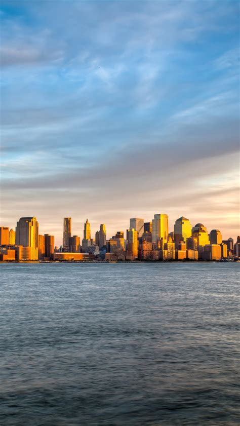 City Wallpaper Iphone 4 4s 5 5s 5c 6 6s Plus new york manhattan sunset sea sky iphone wallpaper
