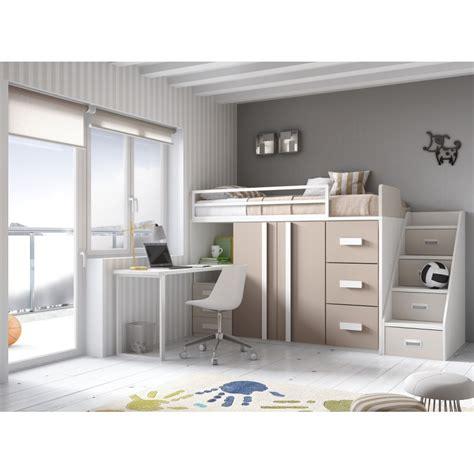 litera escritorio debajo medidas de literas litera compacta con tres camas tres