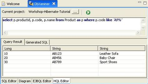 ut editor tutorial hibernate tutorial using hql editor
