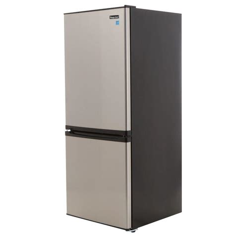 magic chef 4 3 cu ft mini refrigerator in stainless look