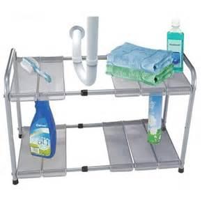 Kitchen Sink Organizer Shelf 2 Tier Expandable Adjustable Sink Shelf Storage Shelves Kitchen Organizer Ebay