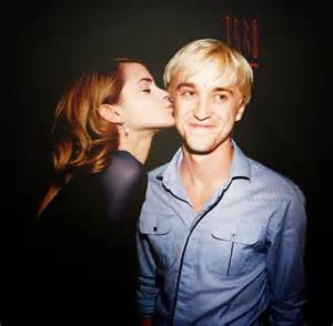 watson hermoine and tom felton draco the