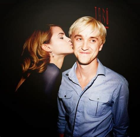 Real Name Of Hermione Granger by Watson Hermoine And Tom Felton Draco The