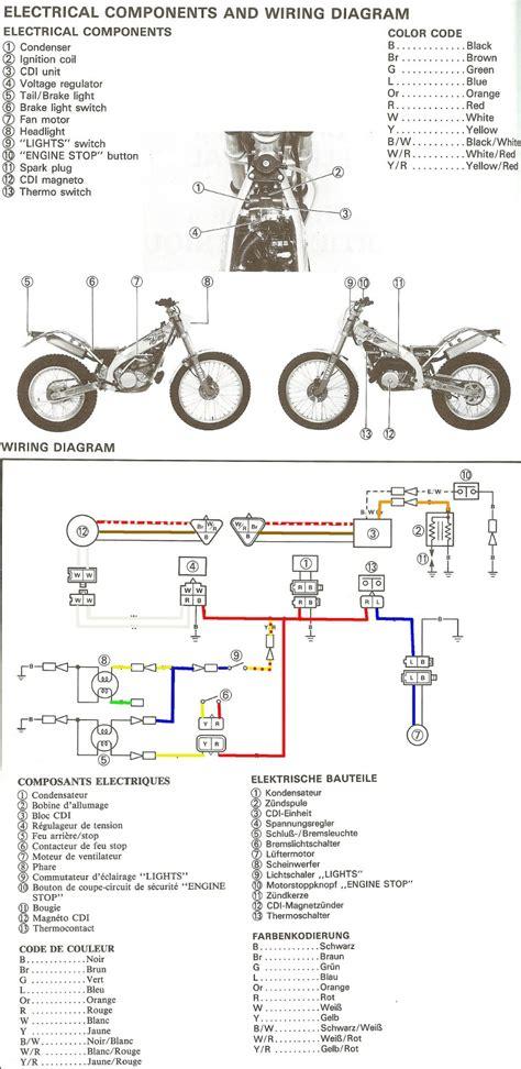1980 yamaha xt 250 wiring diagram fuse box auto wiring