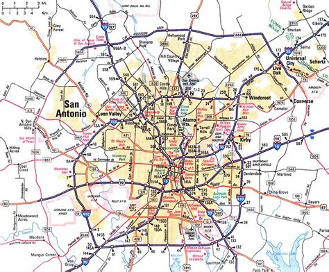 san antonio map free printable maps
