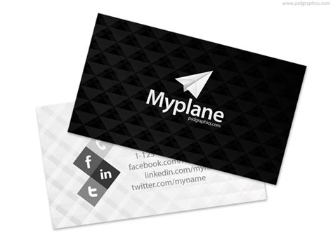 black and white business card template psdgraphics