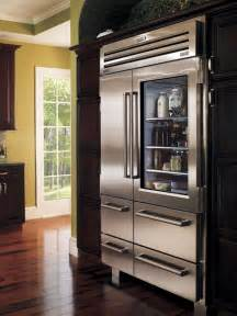 Sub Zero Refrigerator With Glass Door Covetable Kitchen Appliances Kitchen Ideas Design With Cabinets Islands Backsplashes Hgtv