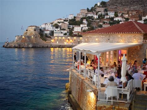 Dining Rooms Direct Restaurant Guide For Hydra Island Greece Restaurants In