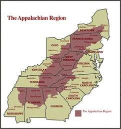 appalachian mountains canada map appalachian economic development