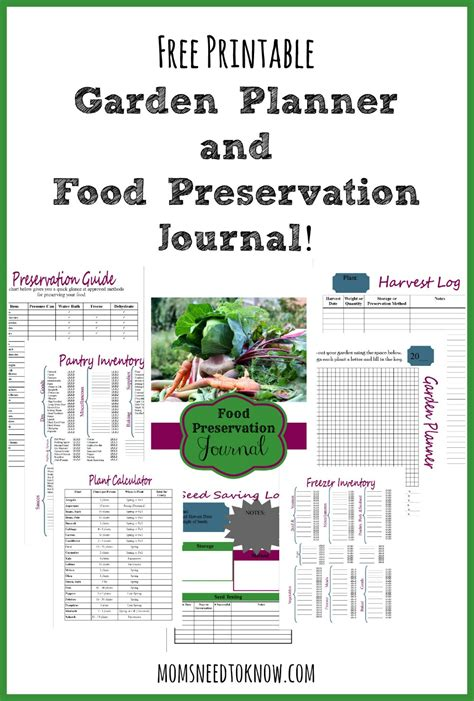 free printable garden planner and food preservation