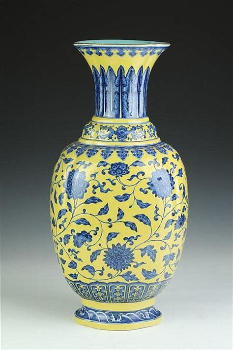 Blue And Yellow Vase Pin By Sam S On Pottery Qing