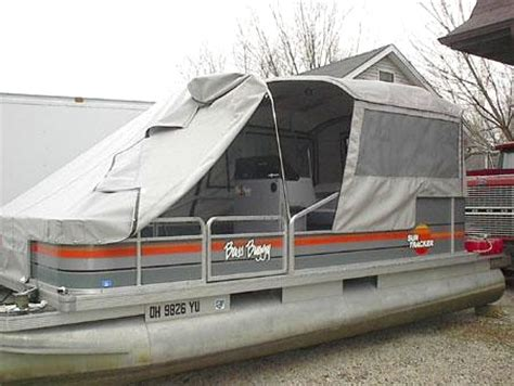 bass boat enclosures turn your pontoon into a cing tent rocky mountain rv