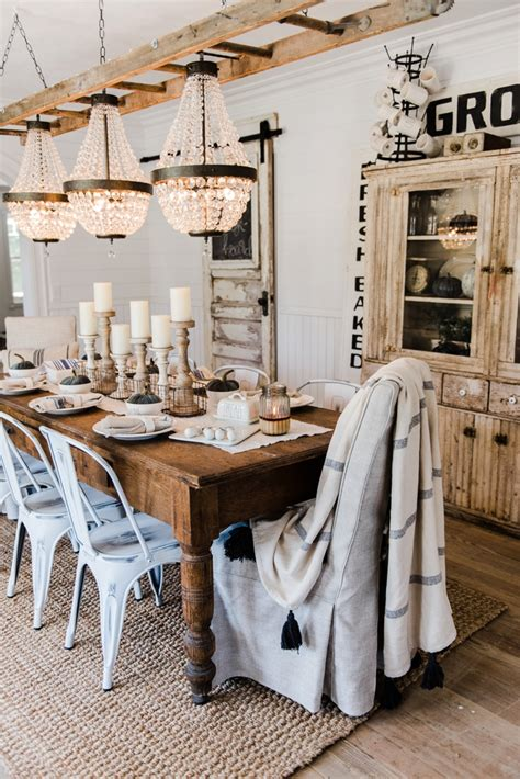 farmhouse dining room furniture simple neutral fall farmhouse dining room