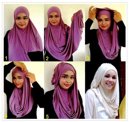 tutorial hijab turban ala artis contoh tutorial hijab ala artis dewi sandra terbaru 2016