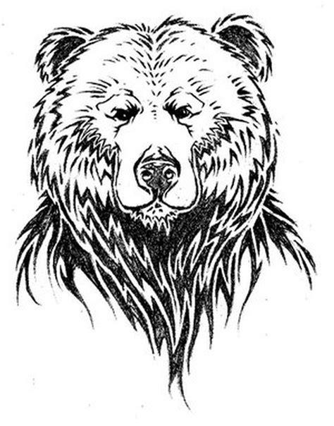 bear face tattoo simple design of tattoos book 65 000
