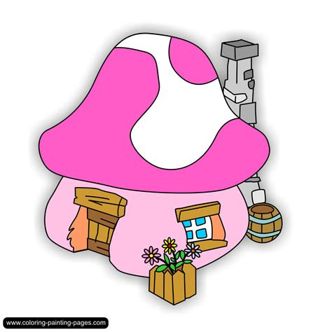 Smurf House by Coloring Pages Smurfs Free Downloads
