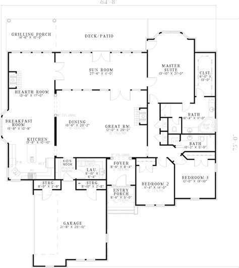 Houseplans And More Hulbert Hill Traditional Home Plan 055d 0644 House Plans And More