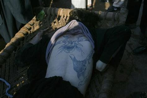 body tattoo in karachi tattoo sign found on the back of terrorist killed in