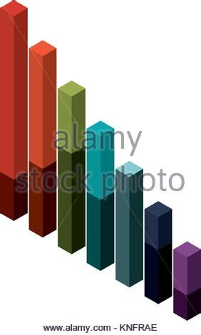 isometric data analysis infographic stock vector art