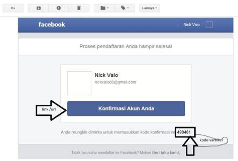 membuat akun facebook mengunakan email maupun melalui