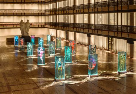 lincoln center nyc ballet dustin yellin infills lincoln center with glass dancers