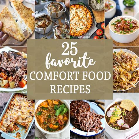 comfort food recipes 25 favorite comfort food recipes the cookie rookie 174