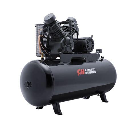 air compressor 120 gallon 2 stage cbell hausfeld ce8001
