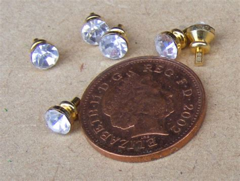 Miniature Drawer Knobs by Tumdee Dolls House Miniature Door Accessories
