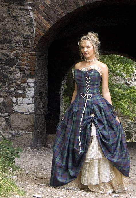 Bella, Special Weave Silks Tartan Wedding Dress   Scottish