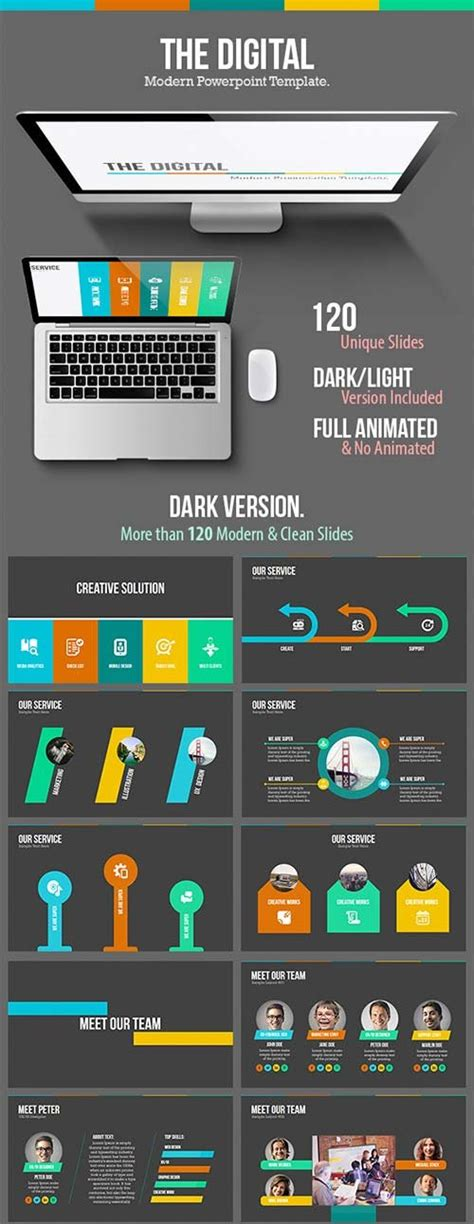 Powerpoint Templates Graphicriver The Digital Modern Powerpoint Template Graphicflux Graphicriver Powerpoint Templates
