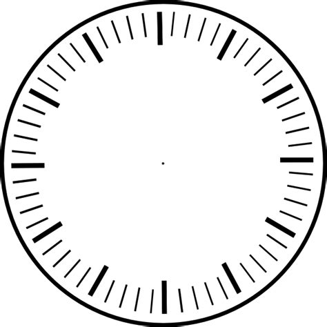 printable analogue clock template blank analog clocks clipart best