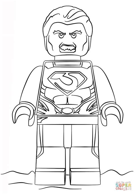 lego man of steel coloring page free printable coloring