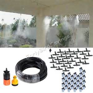 Patio Mist Systems by New 15m 50 Quot Outdoor Garden Patio Misting Cooling System 30